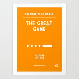 BBC Sherlock The Great Game Minimalist Poster Art Print