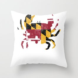 If you have Maryland State pride or will be visiting for fam Throw Pillow