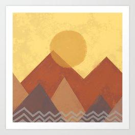 Abstract Warm Morning  Art Print
