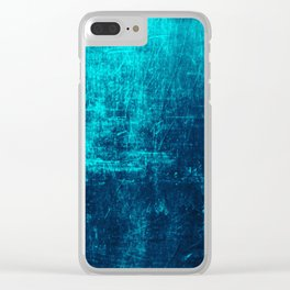 Sea Turquoise Paper Clear iPhone Case