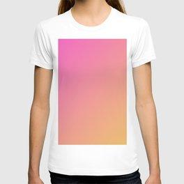 Pink cute gradient color T-shirt