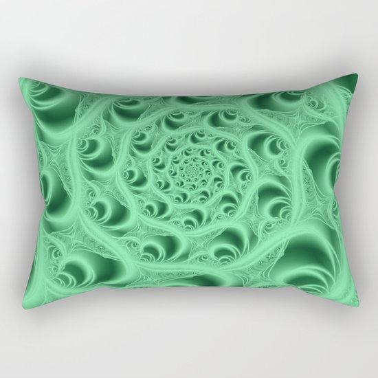 Fractal Web in Flourescent Green Rectangular Pillow