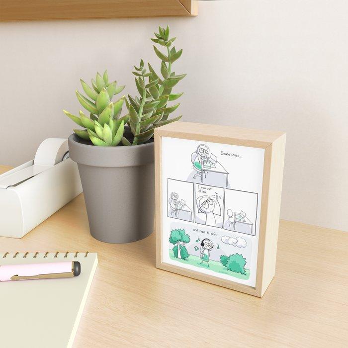 Refill Framed Mini Art Print