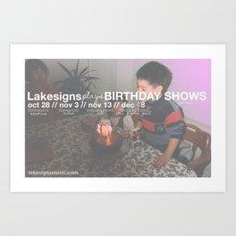 Lakesigns Poster - Birthday Tour 2011 Art Print