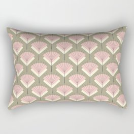 Mid-century Modern Radio Antenna Pattern /Rose Rectangular Pillow