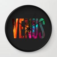 venus Wall Clocks featuring Venus by Greg21