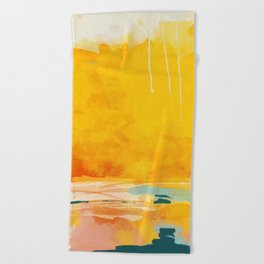 sunny landscape Beach Towel