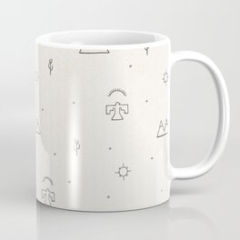 Death Valley in Ivory and Clay Coffee Mug