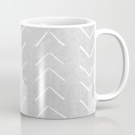 Mudcloth Big Arrows in Grey Coffee Mug