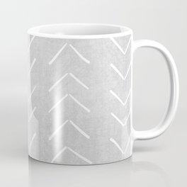 Mudcloth Big Arrows in Grey Coffee Mug
