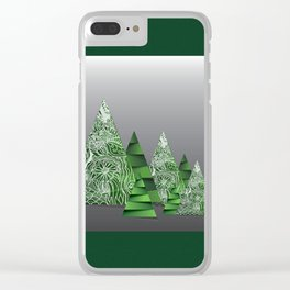 Mandala tree Clear iPhone Case