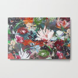 Flower piece petrol red | by Martine de Ruiter Metal Print