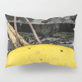 Mooring Rope And Yellow Bollard Pillow Sham