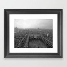 Saint Mark's Square in black and white Framed Art Print