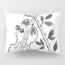 Violin, black and white Pillow Sham
