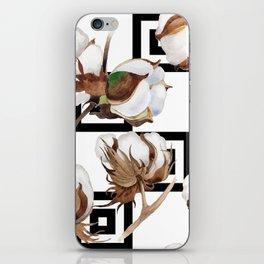 Cotton Flower Pattern 05 iPhone Skin
