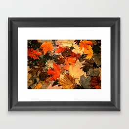 mixing colours Framed Art Print