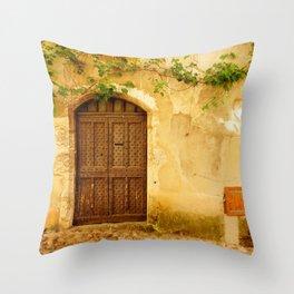 Pérouges: Medieval village near Lyon, Fine Arts Travel Photography Throw Pillow