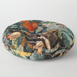 Birds and snakes Floor Pillow