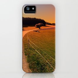 Hiking trip in summer time | landscape photography iPhone Case