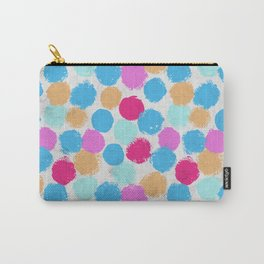 Rainbow Spots Circle Pattern Carry-All Pouch