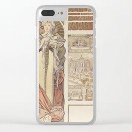 Alfonse Mucha / Österreich Paris 1900 Affiche Clear iPhone Case