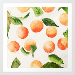 Satsumas Watercolor Painting Art Print