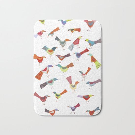 Birds doing bird things Bath Mat