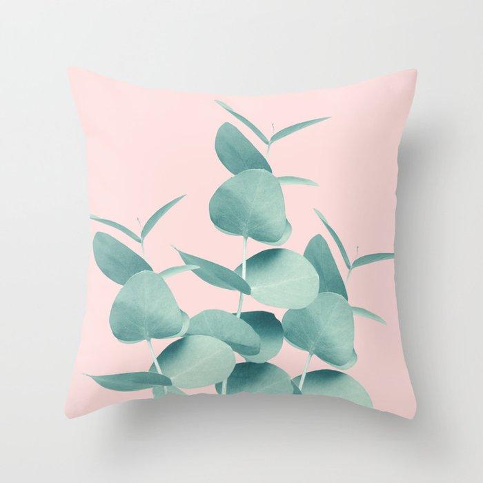 Eucalyptus Leaves Green Blush #1 #foliage #decor #art #society6 Deko-Kissen