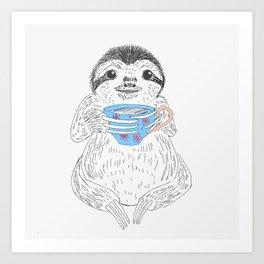 Tea Sloth Art Print