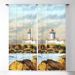 Stormy Weather Eastern Point Lighthouse Gloucester MA Blackout Curtain