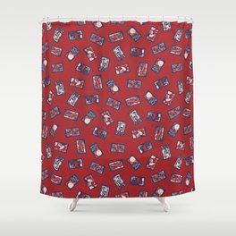 Playing Card Game / Hanafuda (花札) Shower Curtain