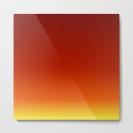 Red Autumn Gradient Metal Print