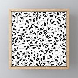 Pandas x 9999 (Patterns Please) Framed Mini Art Print