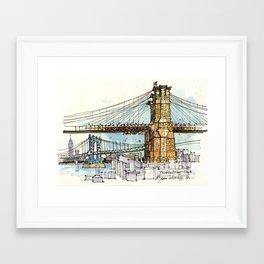 Brooklyn Bridge, New York Framed Art Print