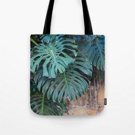 Monstera Print, Tropical Green Beauty Tote Bag