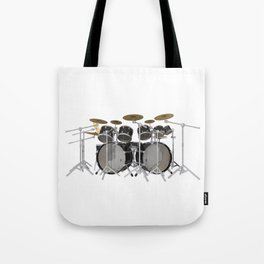 Black Drum Kit Tote Bag