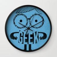 geek Wall Clocks featuring GEEK by Farnell