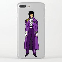 Purple Dove 1 Clear iPhone Case