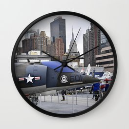 A British Harrier Jet in New York Wall Clock