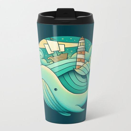Into the Ocean Metal Travel Mug