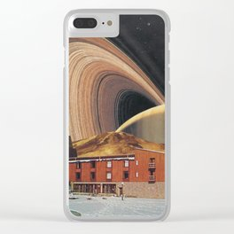 Saturn Chalet Clear iPhone Case