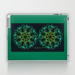 Grace Mandala x 2 - Green Black Laptop & iPad Skin