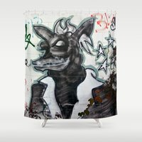 beast Shower Curtains featuring Beast  by Ethna Gillespie