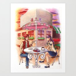 Sunset Date on Strawberry Hill Art Print