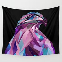 eagle Wall Tapestries featuring Eagle by Jonathan Vizcuna