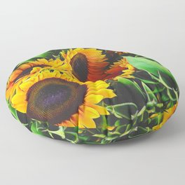 Sunfowers by Lika Ramati Floor Pillow
