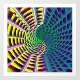 Warping Yellow Art Print