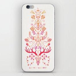 La Vie & La Mort – Pink & Orange Ombré iPhone Skin