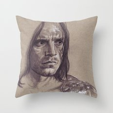 The Man on the Bridge Throw Pillow